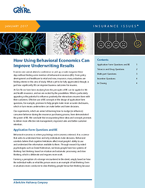 How Using Behavioral Economics Can Improve Underwriting Results