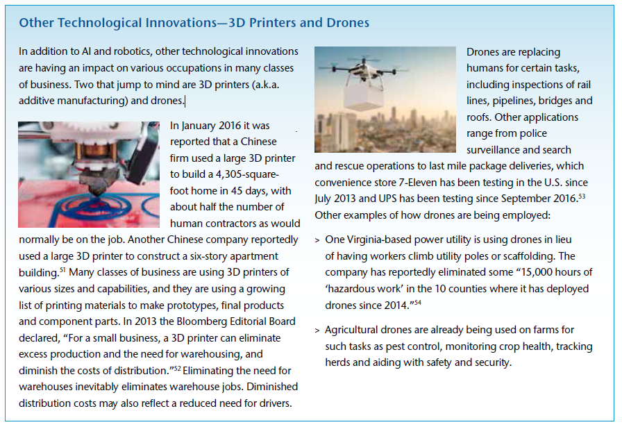 Other Technological Innovations - 3D Printers and Drones