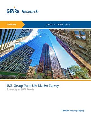 Group Term Life - Results of 2016 U.S. Market Survey